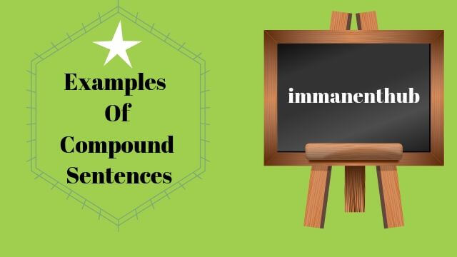 Examples Of Compound Sentences